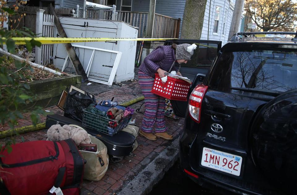 Emily Mason-Osann loaded her car with items from her home.
